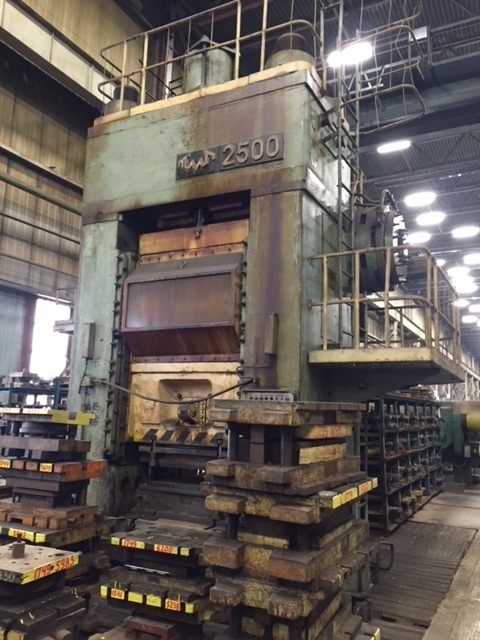 Coining (Cold Forging) press force 2500tn. Model KV8044